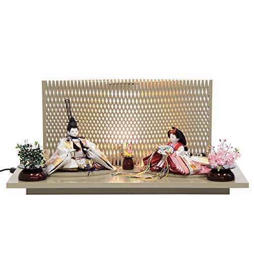 雛人形 親王平飾り【花ごろも】 [幅60cm] 平安優香 [193to1440a4] 雛祭り   B07M68Q49S
