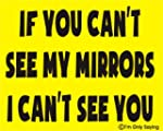 If you can't see my mirrors I can't s...