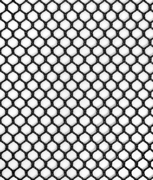 7mm Polyester Hex Mesh - Black Fabric - by the - Material Black Mesh