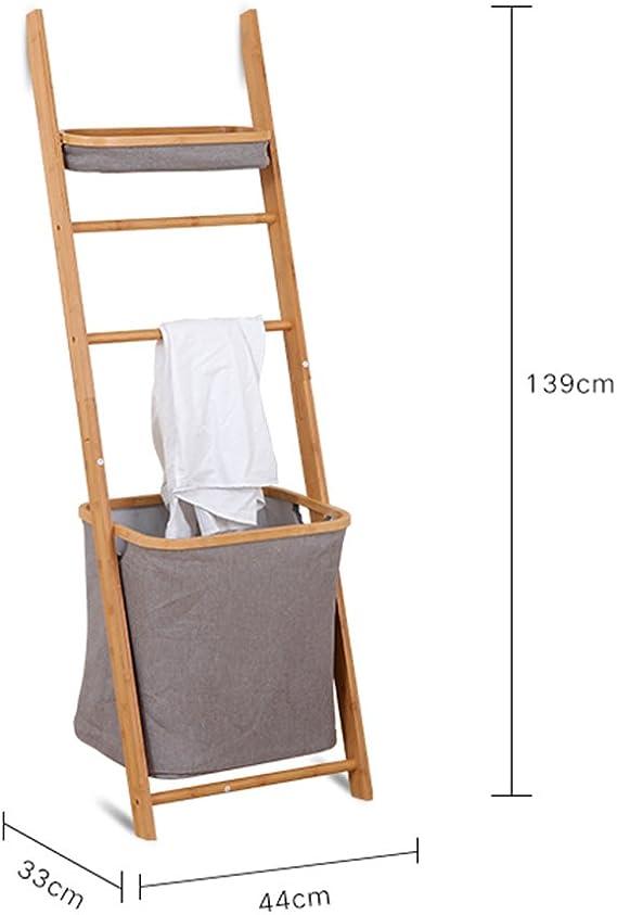 Storage rack. ZHIRONG - Organizador de bambú para baño, Ropa Sucia, Cesta de Almacenamiento, toallero 3344139 cm: Amazon.es: Juguetes y juegos