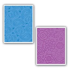 Sizzix Textured Impressions Embossing Folders 2/Pk - 631367