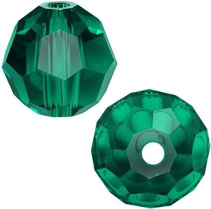 Swarovski Crystal Emerald Bicone 5328 Beads; 4mm or 6mm; May Birthstone