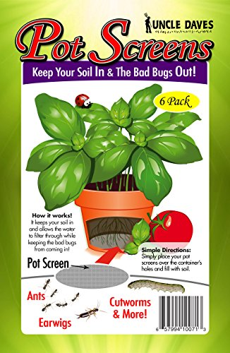 Uncle Daves Pot Screens - Ideal for Pots, Planters, Bonsais and Any Plant Containers