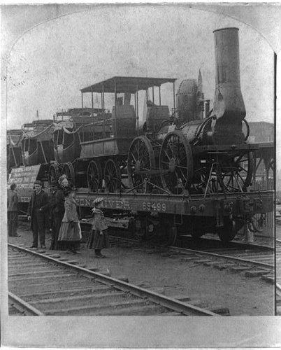 Dewitt Clinton Railroad (Photo: First Engine & Train in America,Railroad,RR,Locomotive,DeWitt Clinton,c1900)