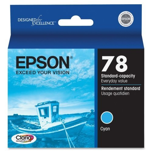 """Epson Corporation - Epson Cyan Ink Cartridge - Cyan - Inkjet - 430 Page - 1 Each """"Product Category: Print Supplies/Ink/Toner Cartridges"""""""