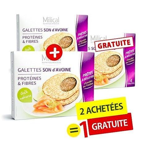 milical - Galettes sonido de avena Natures milical - Juego de 3 cajas de: 2 achetées + 1 gratuita: Amazon.es: Salud y cuidado personal