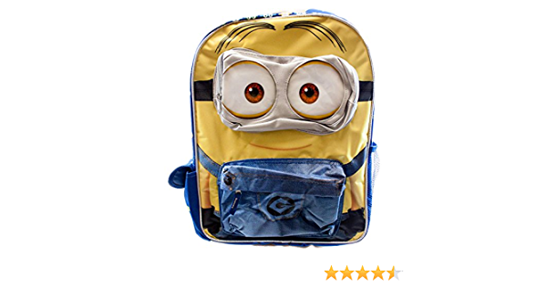 Minions 3D Kids Official Character Junior//Med Size Backpack Rucksack School Bag