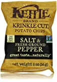 Kettle Brand Krinkle Cut Potato Chips Caddy, Salt and Fresh Ground Pepper, 2-Ounce Bags, 6 Count