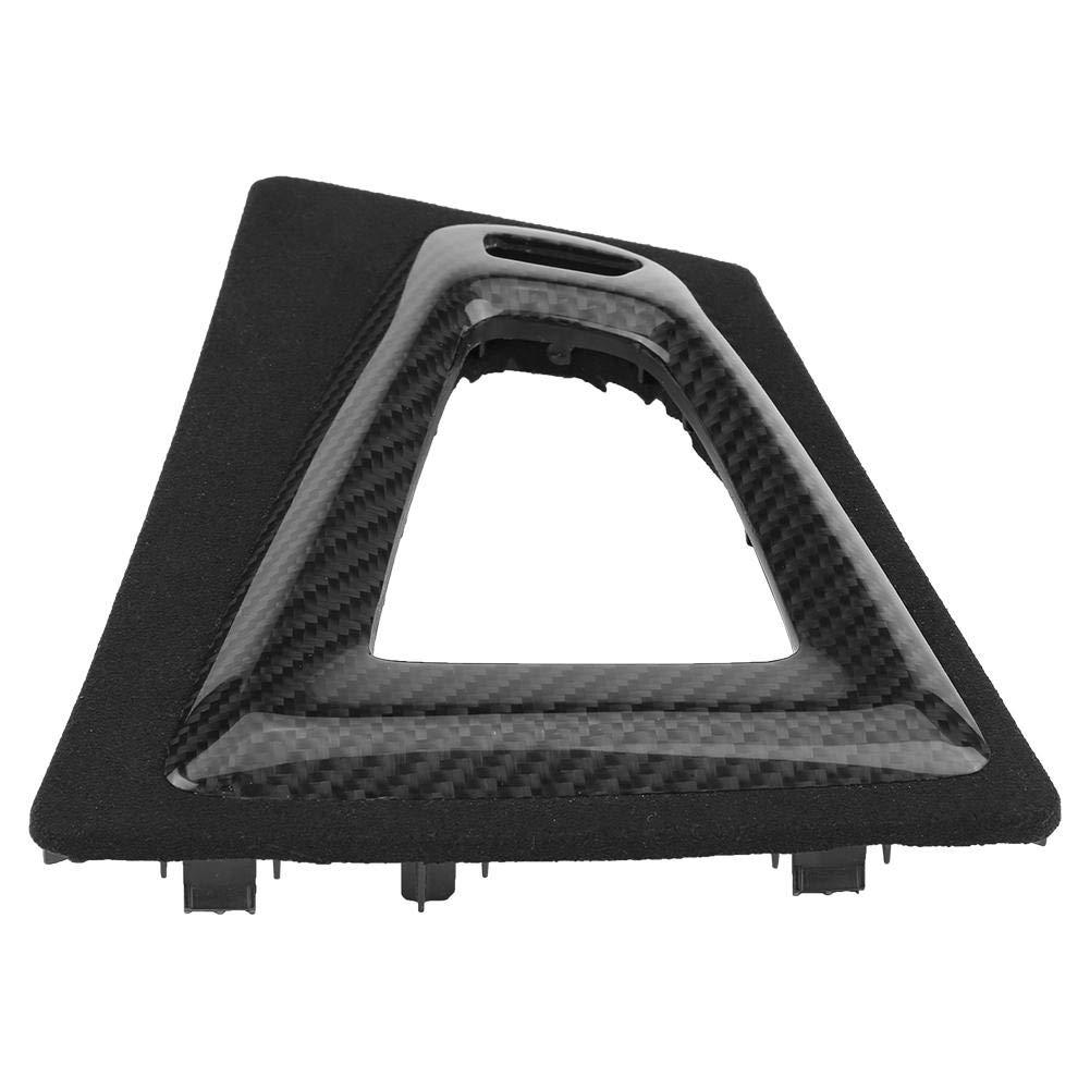 Qiilu Carbon Fiber Gear Shift Knob Base Cover Surround Trim for BMW M3 F80 2014-2018 BMW M4 F82/F83 2014-2018