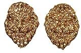 Heidi Daus SWAROVSKI Crystal Lion Clip Earrings ~ Queen Of The Jungle