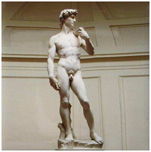 3dRose LLC Michaelangelos David Estatua 10.2cm azulejos de cerámica