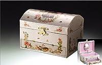Children's Musical Jewelry Music Box Spinning Ballerina Flowers Plays Swan Lake