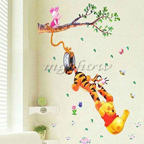 Winnie The Pooh Wall Stickers Nursery Boy Kids Baby Room Vin