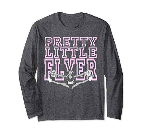 Unisex Pretty Little Flyer Cheerleader T Shirts For Teen Girls Small Dark Heather - Cheerleader Dark T-shirt