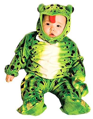 Halloween Costumes Item - Plush Green Frog Baby Costume 6-12 Months - Frog Plush Green Infant & Toddler Costumes