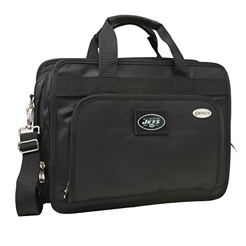 NFL New York Jets Expandable Laptop Briefcase, 13-Inch, Black by Denco