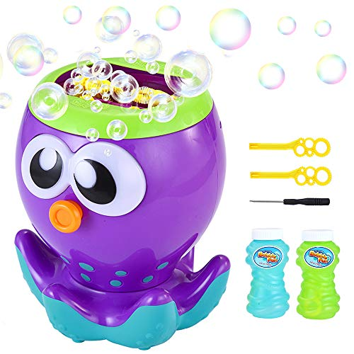 LUKAT Bubble Machine for Kids & Toddlers, Automatic Bubble Maker with 1000+ Bubbles per Minute, Bubble Toys for Birthday Party, Bubble Blower and Gifts for Boys and Girls