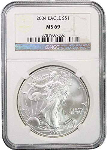 2004 American Silver Eagle $1 MS69 NGC