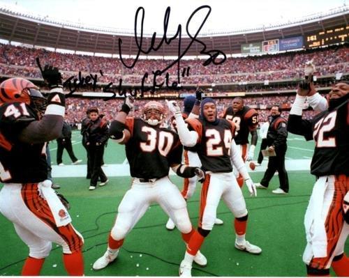 - Ickey Woods Autographed Cincinnati Bengals (Dancing Horiz) 8x10 Photo w/