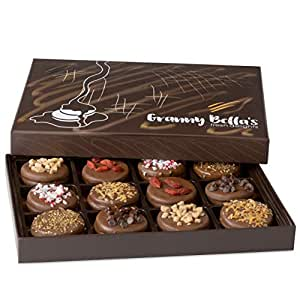Granny Bella's Christmas Gourmet Cookies Gift Baskets, Milk Chocolate Covered Oreo Cookie Box Birthday Gifts For Women Men Family Holiday Corporate Prime Bakery Food Delivery Ideas For Valentines Day
