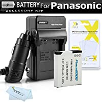 Battery And Charger Kit For Panasonic Lumix DMC-ZS50K, DMC-ZS45K, DMC-ZS40K,DMC-ZS40S, DMC-ZS35K, DMC-LZ40k Digital Camera Includes Replacement DMW-BCM13E Battery + Ac/Dc Charger + More