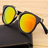 Orange Red Unisex Men Women Retro Cat Eye Mirror Designer Glasses Sunglasses Eyewear