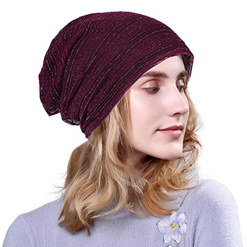 Cap fuchsia Cotton Ms Baotou Thickening Caps and Plus Fuchsia Autumn Winter ggqCw8p