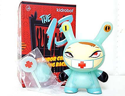Kidrobot The 13 Comes Slithering Back GID Dunny Series #10 NURSE CACKLE Figure