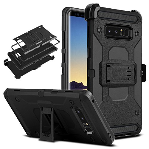 DONWELL Galaxy Note 8 Case New 2017 Hybrid Heavy Duty Shockproof Full Body Protective Armor Phone Cover with Kickstand Belt Clip Holster for Samsung Galaxy Note 8