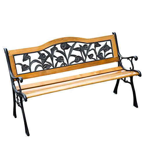 Patio Garden Bench Outdoor Chair Frame Park Furniture Hardwood Cast Iron Porch Steel (Teak Outdoor Furniture Jacksonville Fl)