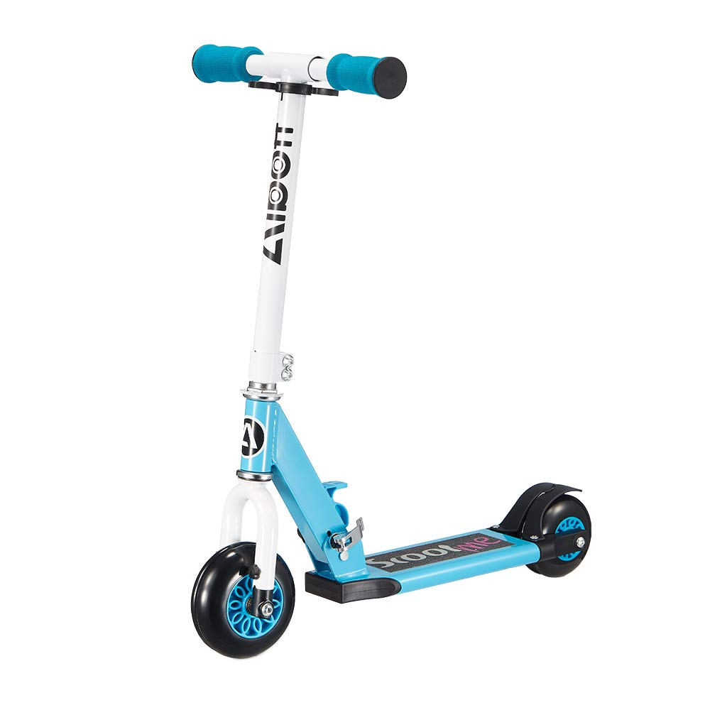 Albott Kid Scooter My 1st Scooter Folding Removable 4 Wheel Scooters for Kids 3 Growth Stage Transformer Toddler Scooters Age 2-5 (Blue) by Albott