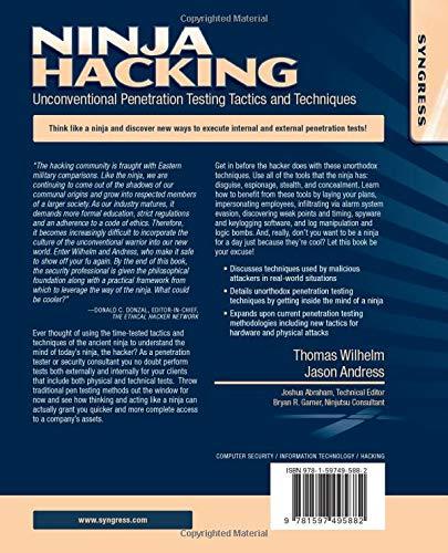 Ninja Hacking: Unconventional Penetration Testing Tactics ...