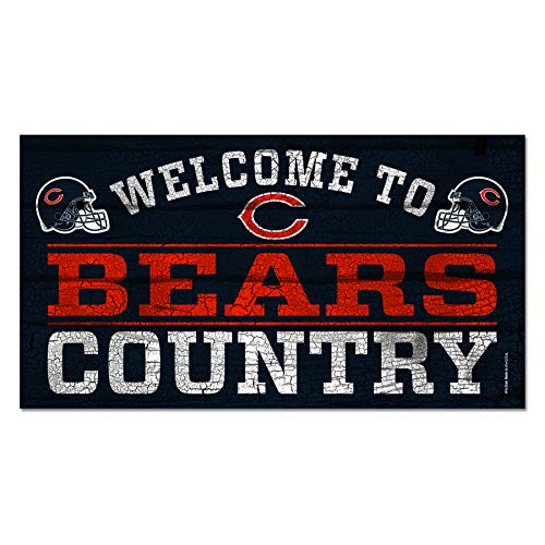 NFL Chicago Bears 13x24 Welcome to Bears Country Wood Sign (Country Wood Sign Nfl)