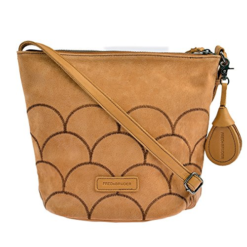 For camel Leather Women Fredsbruder Bag Braun Crossed Braun xznaaXH