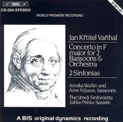 Vanhal: Concerto for 2 Bassoons in F Major / 2 Sinfonias
