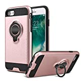 iPhone 6s 6 Case With Ring Holder, iPhone 6 Case Kickstand Ring Compatible With Magnetic Car Mount, Protective Bumper Case With Ring Grip Kickstand Holder for Apple iPhone 6 / 6s 4.7 In (Rose gold)