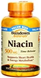 Sundown Naturals Niacin 500 mg Time Release Caplets 200 ea (Pack of 9)