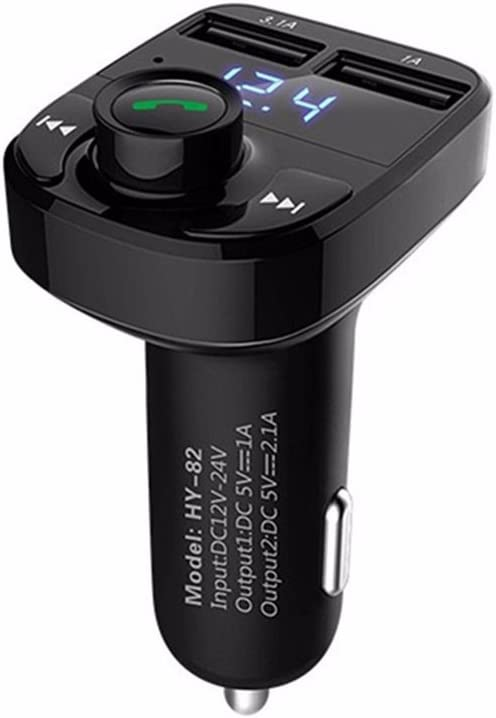 Wireless CAR KIT MP3 FM TRANSMITTER USB CHARGER HANDSFREE FOR IPHONE 7 ANDROID