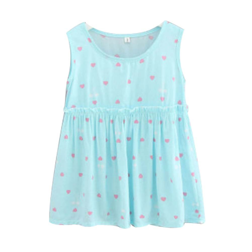 Koala Superstore [I] Kids' Pajama Home Nightdress Sleeveless Cotton Dress Vest Skirt for Girls
