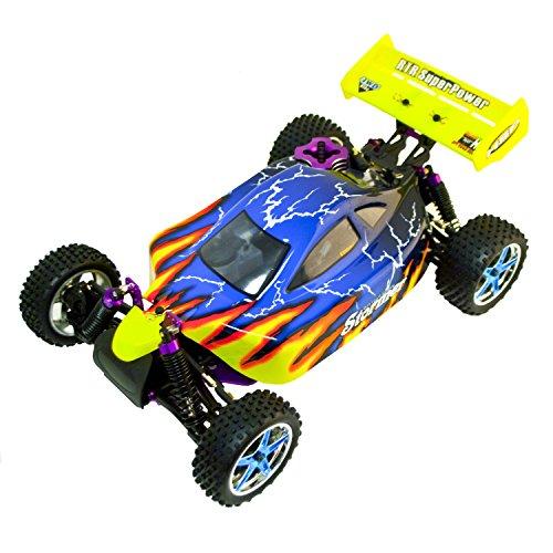 Nitro Gas Powered Buggy - ALEKO 4WD Nitro Power Off-Road Buggy Vehicle (1:10 Scale), Blue