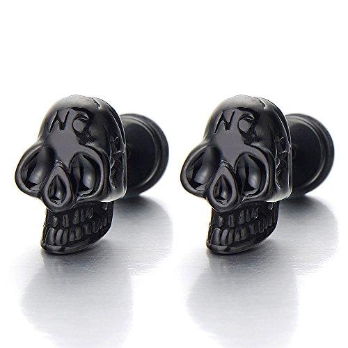 Stainless Steel Gothic Black Earrings