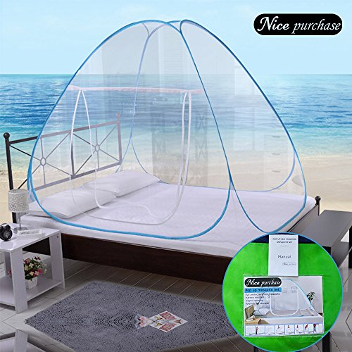 NICE PURCHASE New Portable Folding Mosquito Net Tent Freestand Bed 1 or 2 Openings (2.0m)