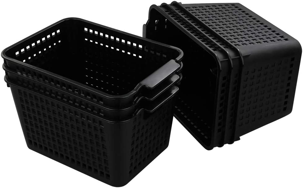 Plastic Storage Basket Desktop Organizer, Set of 6 (Begale)
