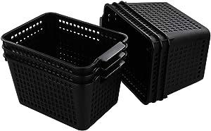 Plastic Storage Basket Desktop Organizer, Set of 6 (Begale)