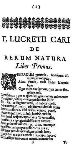 De Rerum Natura (On the Nature of Things) (English Translation)