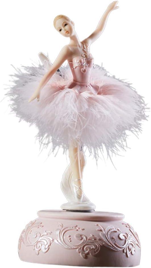 AM Ballerine Music Box Dancing Girl Swan Lake Carrousel avec Plume pour Cadeau danniversaire