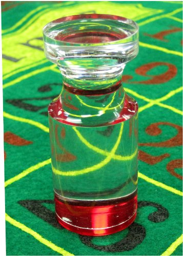 Las Vegas Casino Style New Red Flat Top Acrylic Roulette Marker