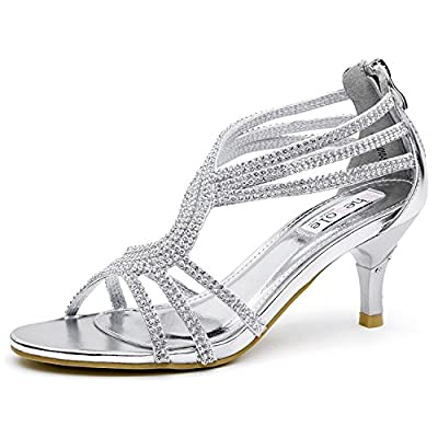 SheSole Women's Low Heel Dance Wedding Sandals Dress Shoes