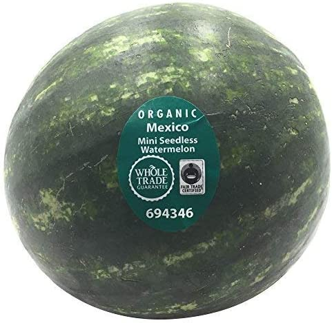 Melon Watermelon Mini Whole Trade Guarantee Organic, 1 Each