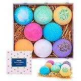 VITANASS 8 Handmade Bath Bombs Gift Set - Nature Essential Oil - Organic Shea & Coco Butter Dry Skin Moisturize - Spa Bomb Fizzies - Add to Bath Bubbles, Basket, Bath Beads - Bath Pearls